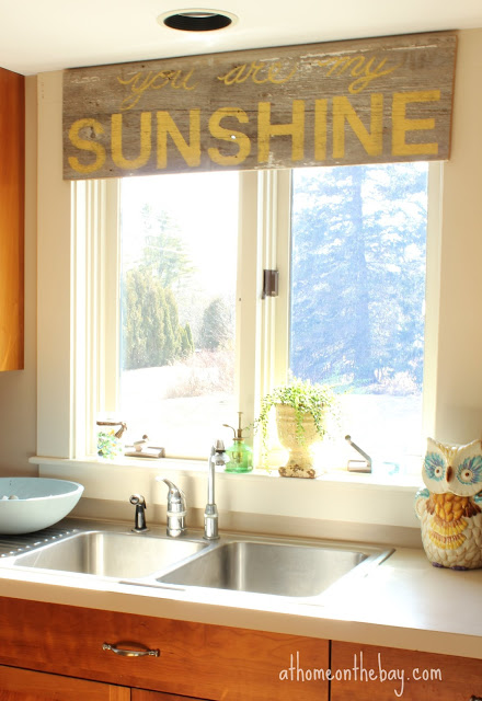 You Are Here: Home / Kitchen / Not Your Usual Kitchen Window Treatment