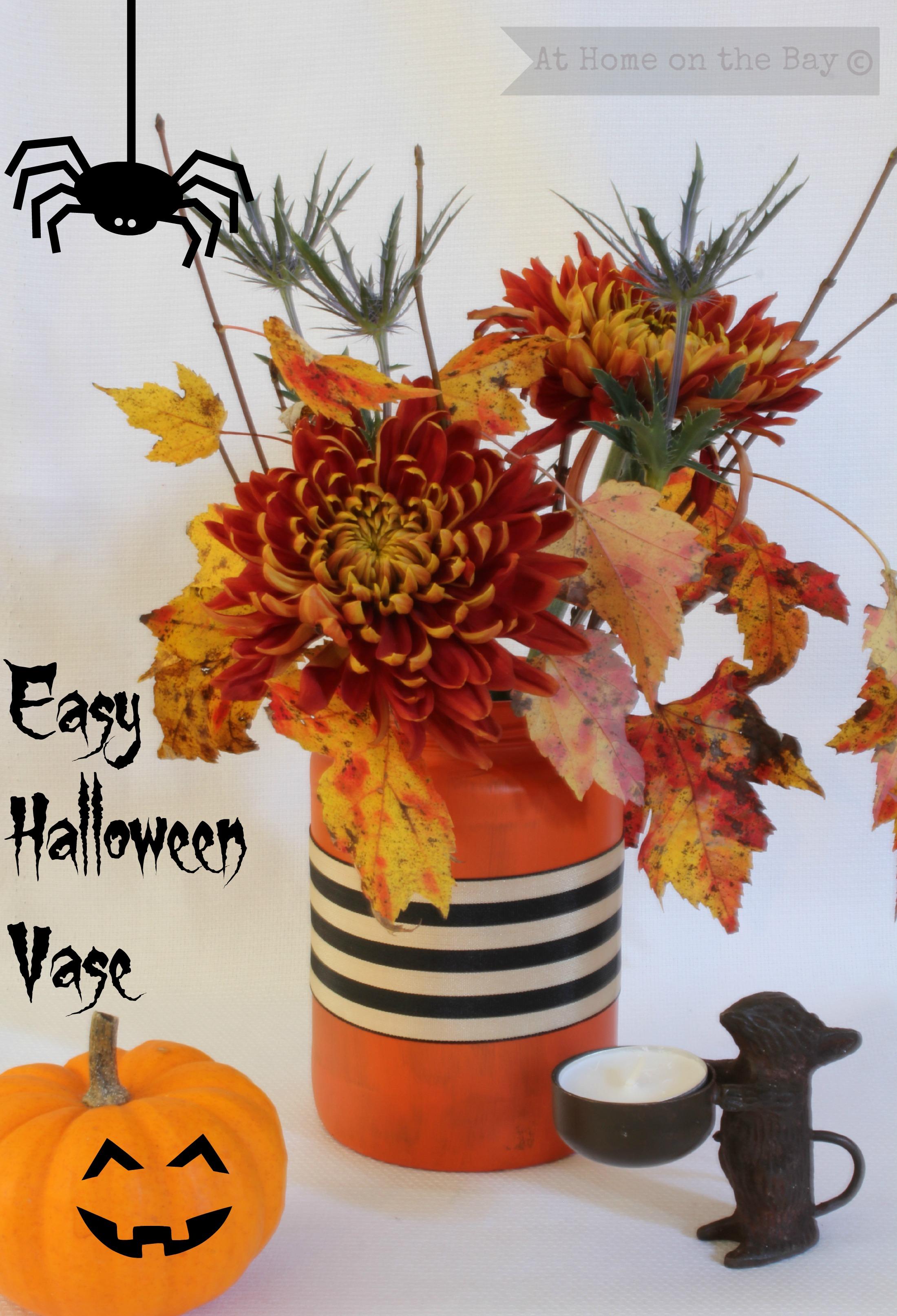 Easy Halloween Vase