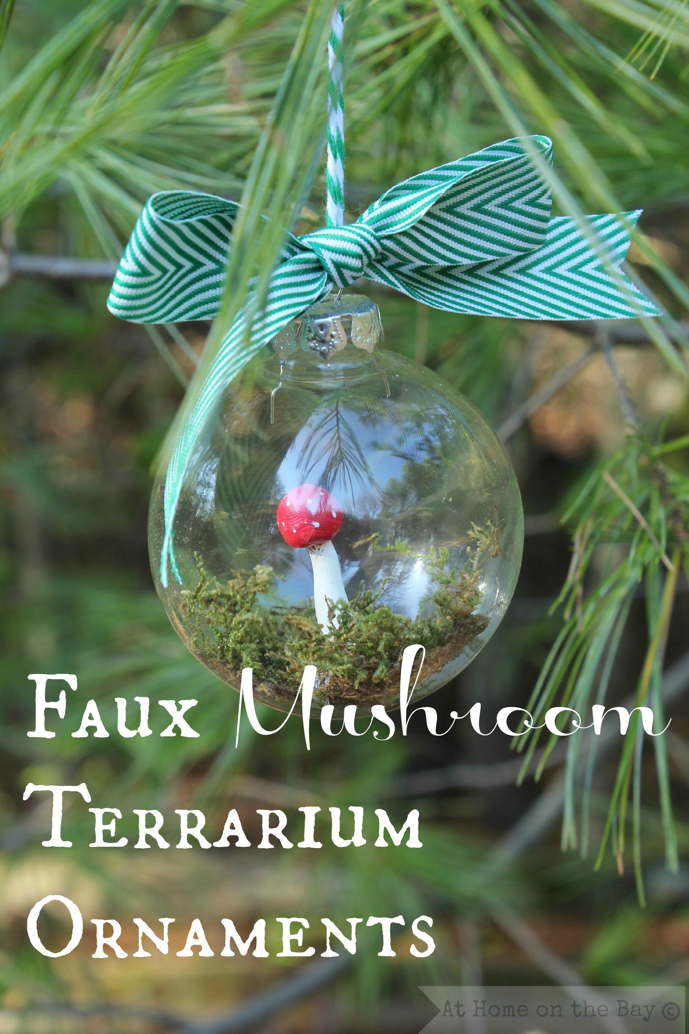 Faux Mushroom Terrarium Ornaments