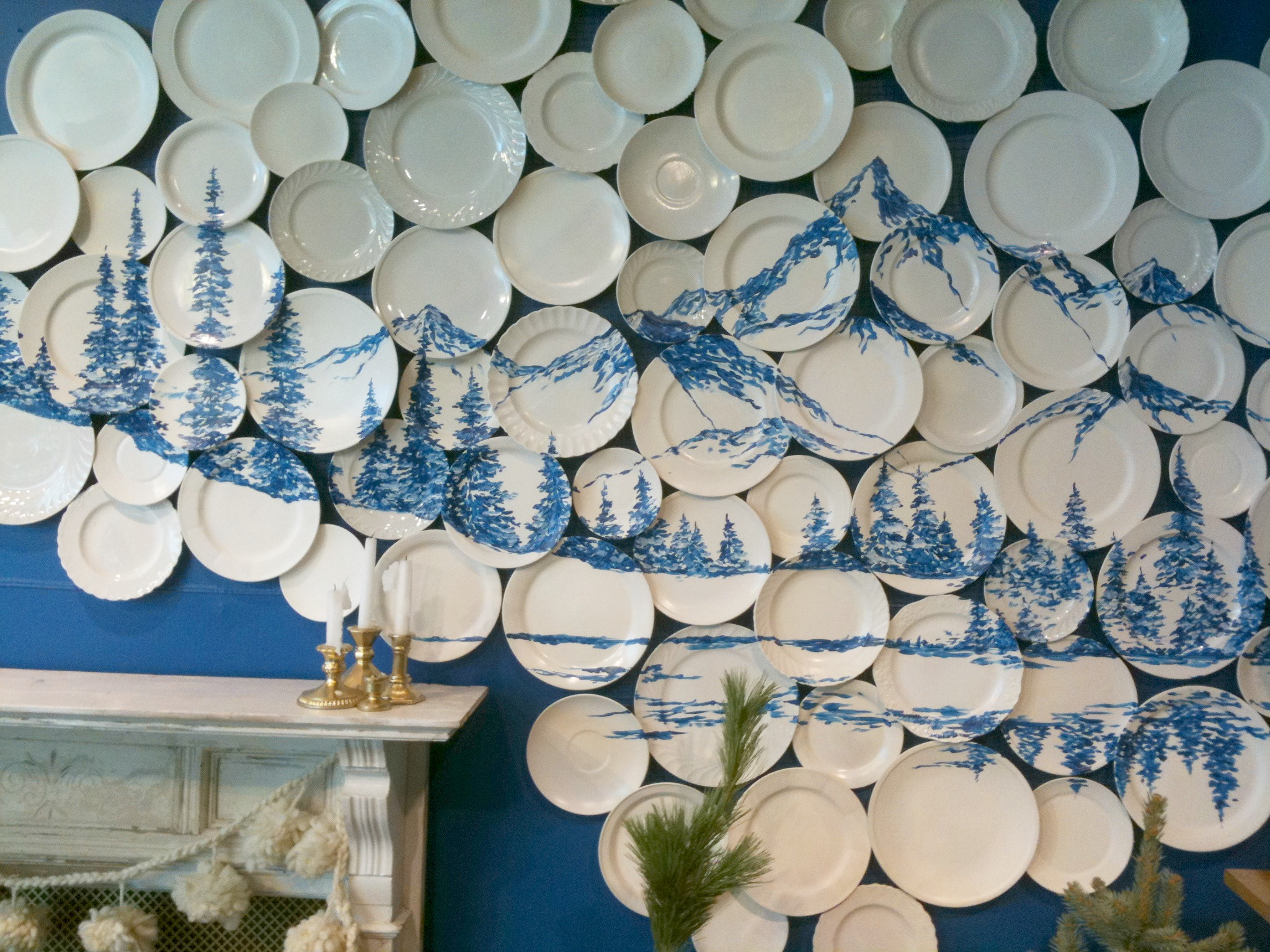 An anthropologie plate gallery for Anthropologie wall mural