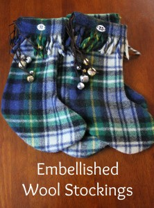 Embellished Wool Stockings @ At Home on the Bay