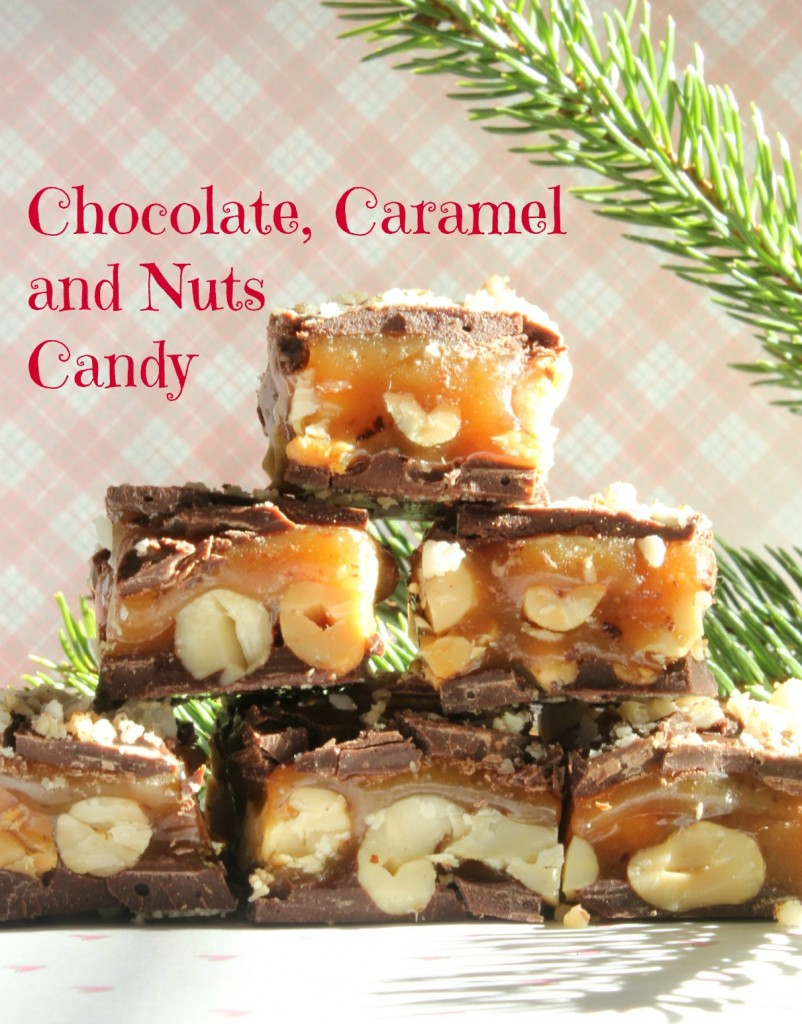 Chocolate, Caramel and Nuts Candy