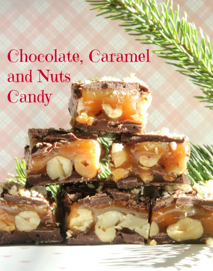 Chocolate, Caramel and Nuts Candy: At Home on the Bay