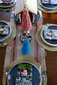 Candy Land Christmas Tablescape: At Home ont the Bay
