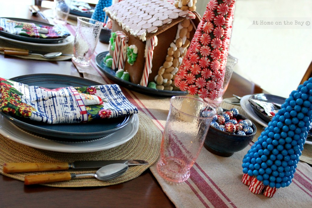 Candy Land Christmas Tablescape from At Home on the Bay