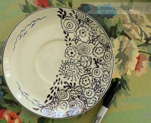 DIY Doodle Plate:At Home on the Bay