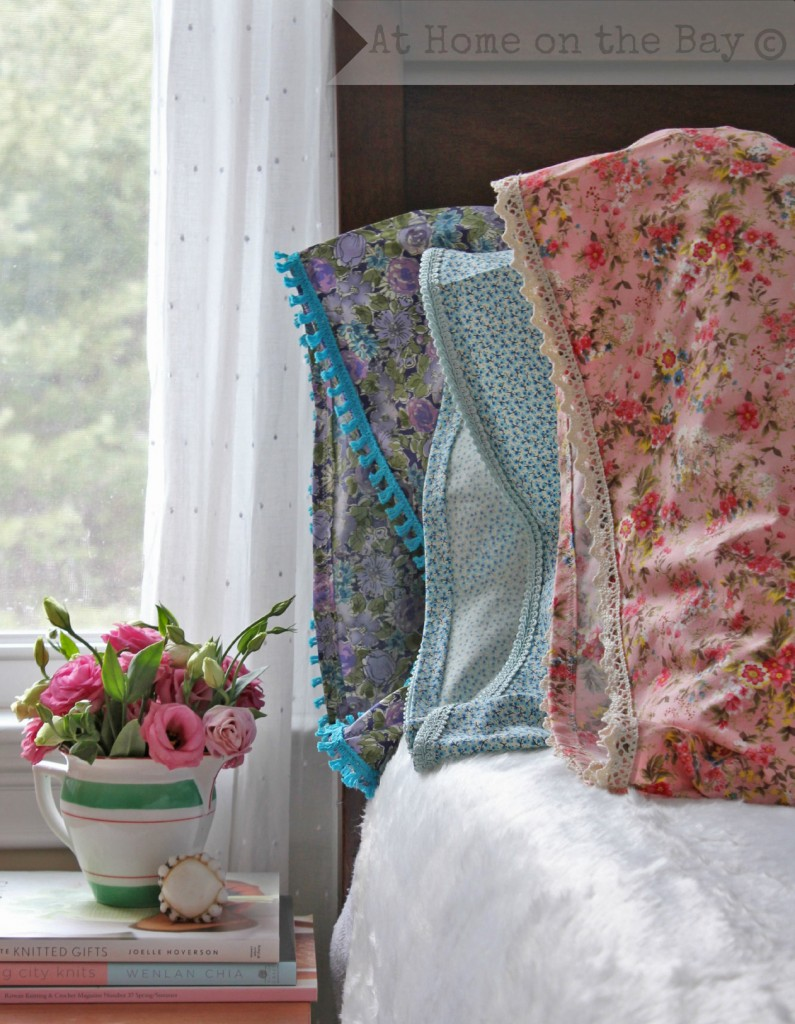 DIY Lace Trimmed Pillow Cases: At Home on the Bay