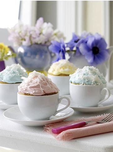 teacup cupcakes via sweet paul