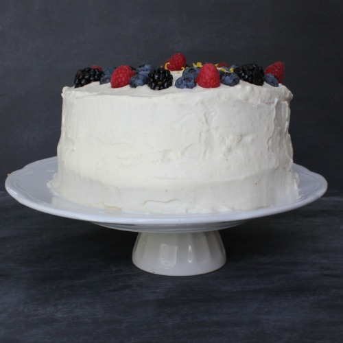 Lemon Mouse Cake with Berries