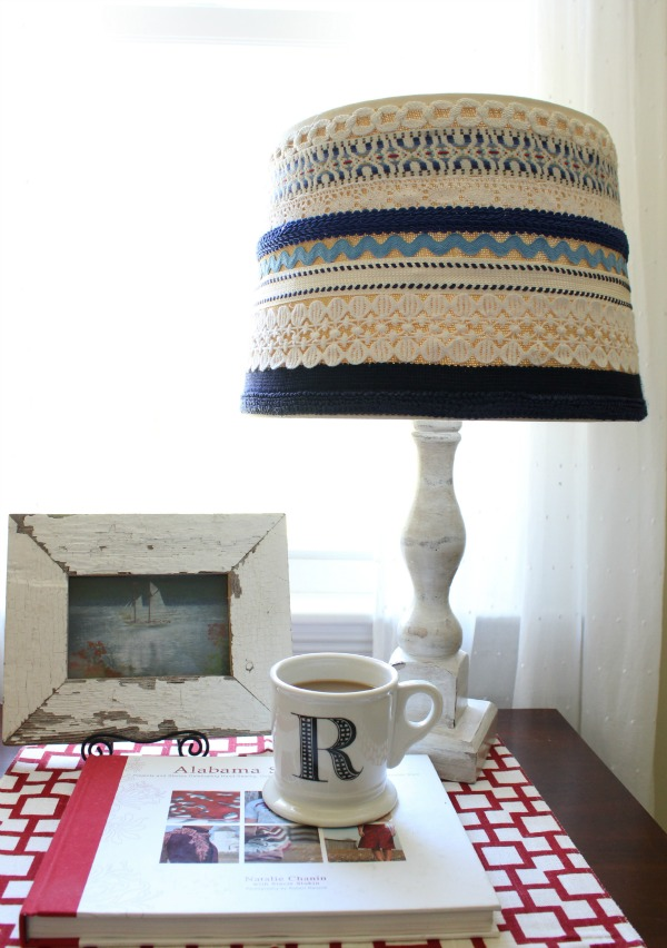 Updating a lampshade with trim