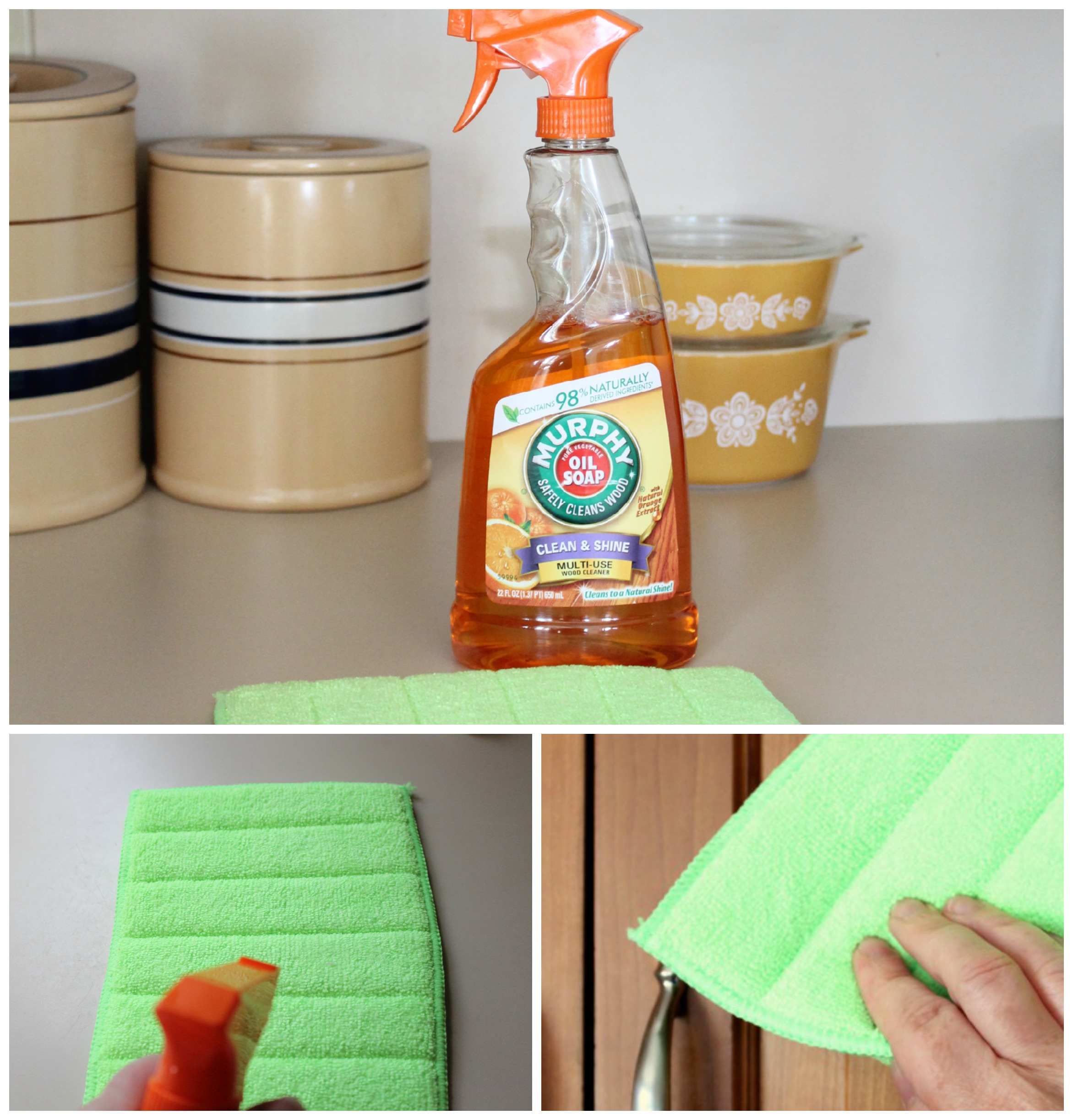 Cleaning Kitchen Cabinets With Vinegar: Cleaning Our Cherry Cabinets