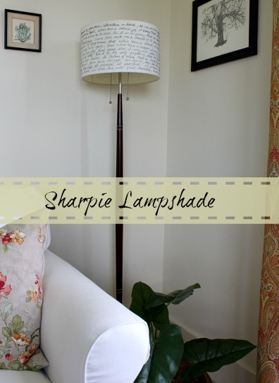 Turn a plain lampshade into something special with a sharpie.