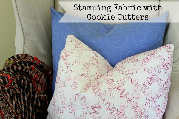 stamping fabric with cookie cutters