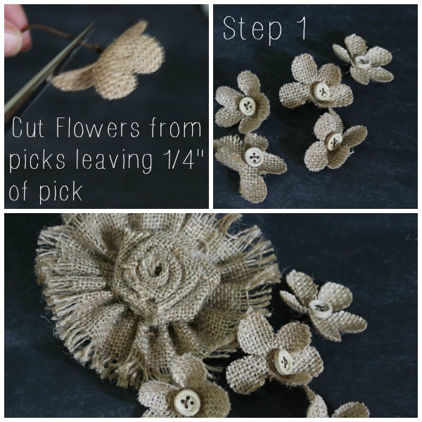 Step 1: cut flower picks
