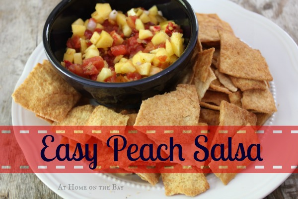 easy peach salsa recipe using 3 ingredients
