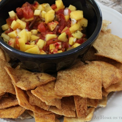 Easy Peach Salsa - At Home on the Bay