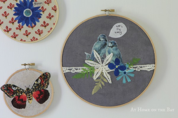 No-Sew Applique Hoop Art with Martha Stewart Fabric Decoupage