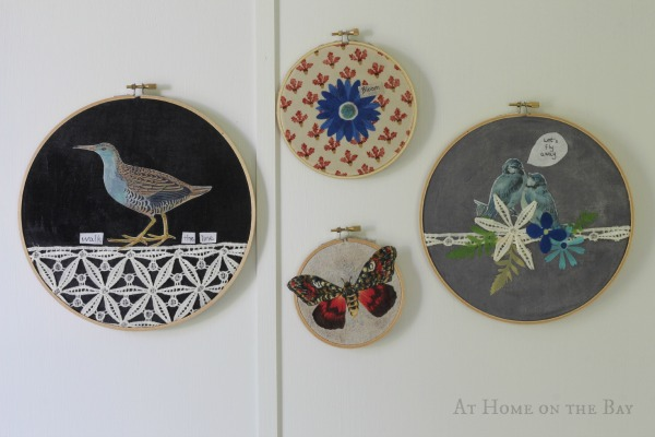 No-Sew Hoop Art with Martha Stewart Decoupage #MarthaDecoupage