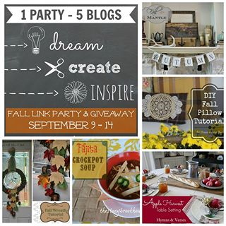 Dream Creat Inspire Link Party and Giveaway