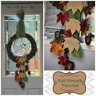 Fall wreath tutorial - Major Hoff Takes a Wife