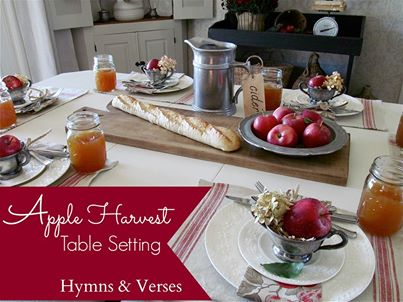 fall table setting - Hymns and Verses