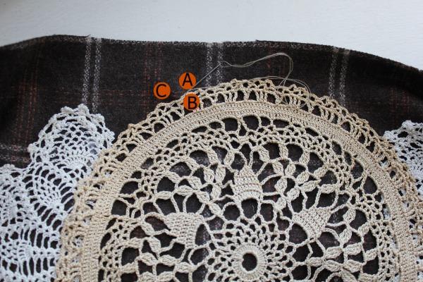 fall pillow stitch