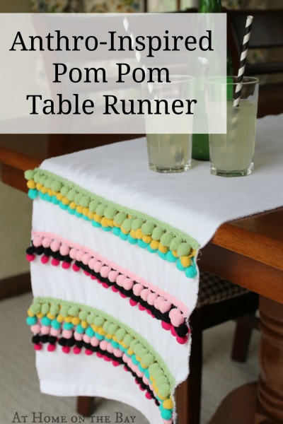 Anthro-Inspired Pom Pom Table Runner