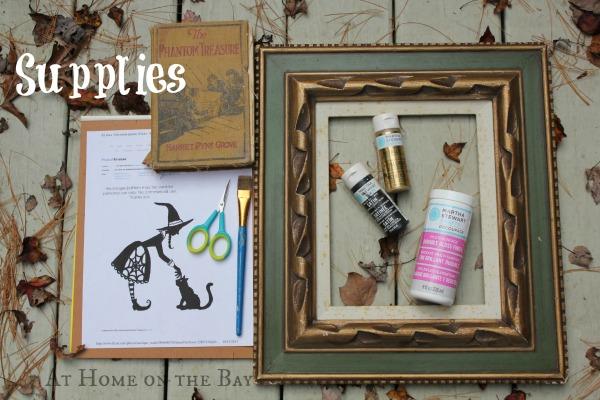 framed halloween silhouette supplies