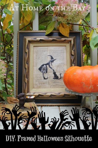 framed halloween silhouette tutorial