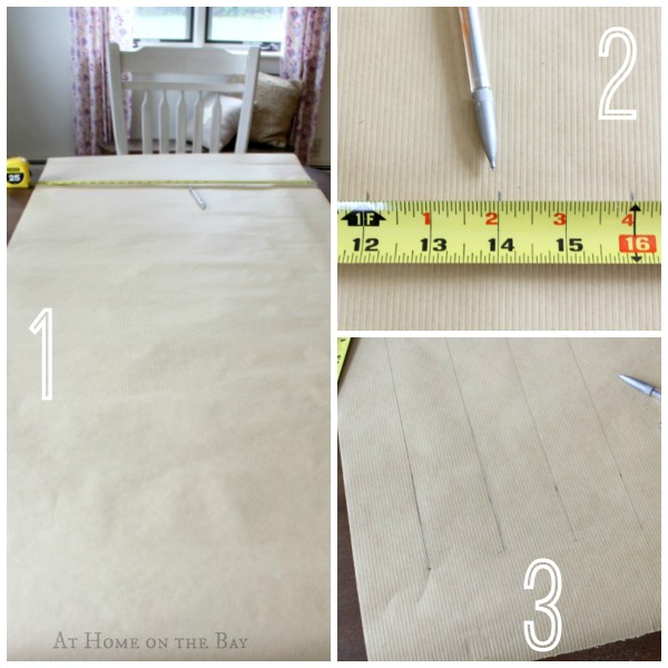 Woven paper table runner steps 1-3