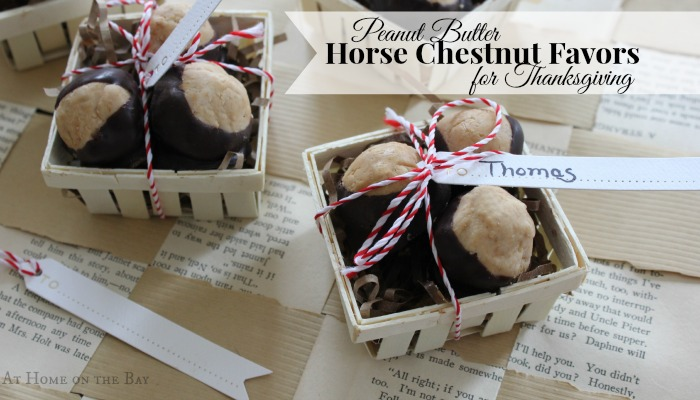 Thanksgiving Favors: Peanut Butter Horse Chestnuts