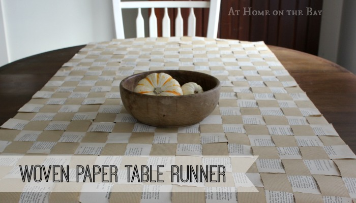 woven paper table runner tutorial