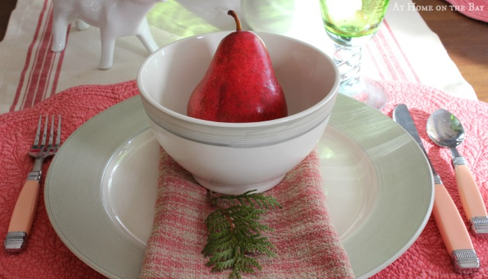 Pink and Green Christmas Brunch Tablescape