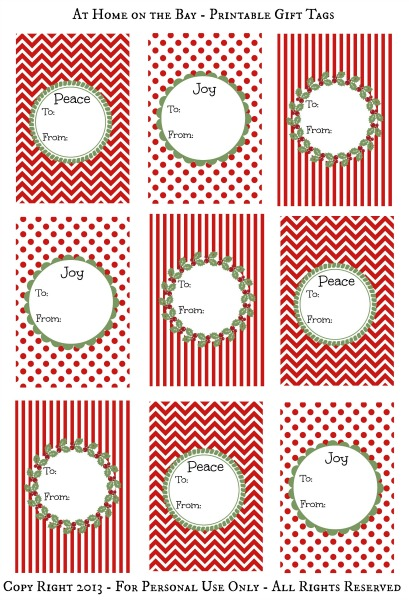 photo regarding Free Printable Gift Tags Christmas called Absolutely free Printable Xmas Reward Tags
