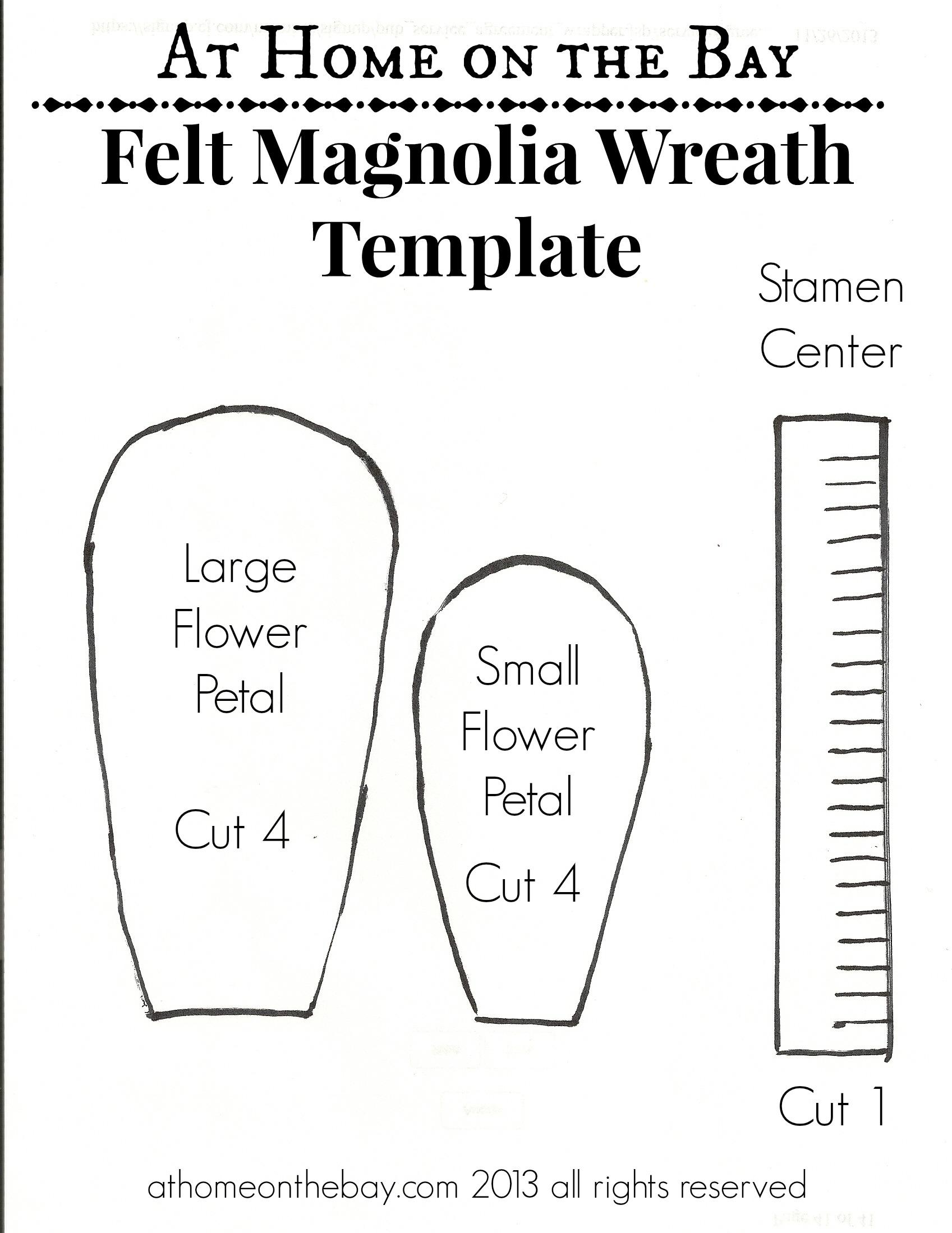 Felt magnolia flower wreath magnolia wreath template maxwellsz