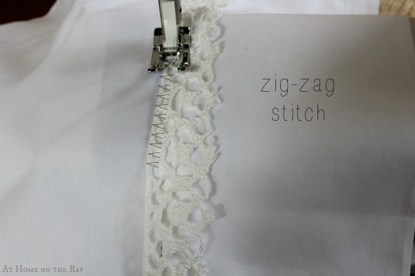 tips for adding lace trim to pillowcases