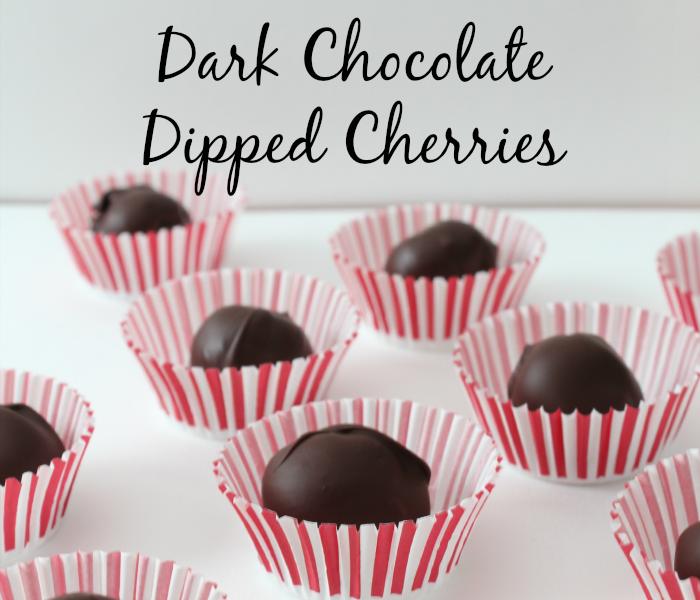 dark chocolate dipped cherries