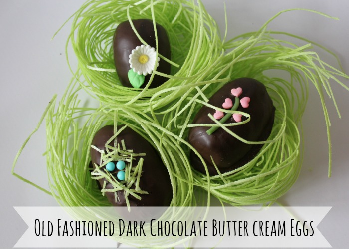Old Fashioned Dark Chocolate Butter Cream Eggs Recipe