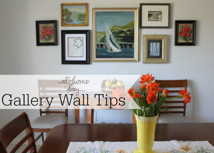 Gallery wall tips from At Home on the Bay
