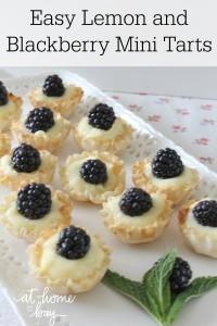 Easy Lemon Blackberry Mini Tarts