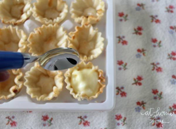 easy lemon and blackberry mini-tarts