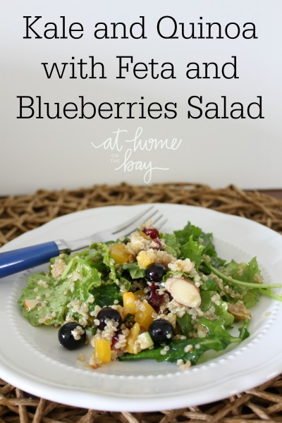 Kale and Quinoa with Feta and Blueberries Salad