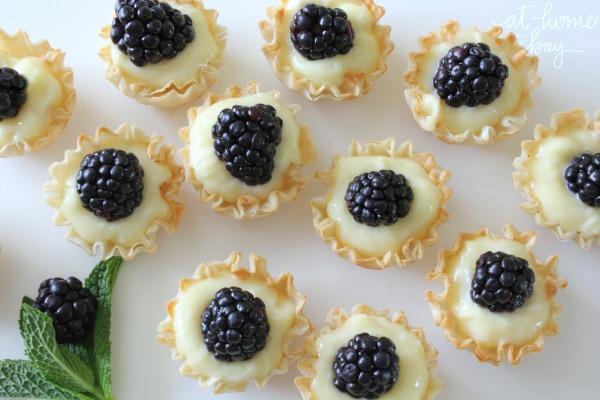 lemon and blackberry mini tarts