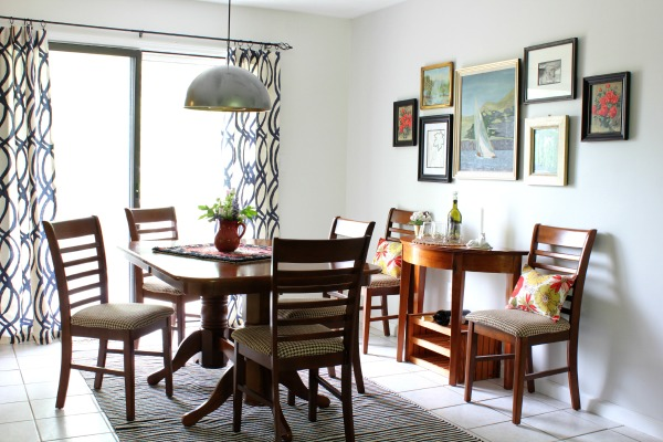 Small vintage eclectic dining room tour-Clev