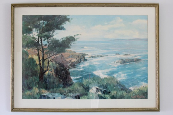 how to clean and frame thrift-store art