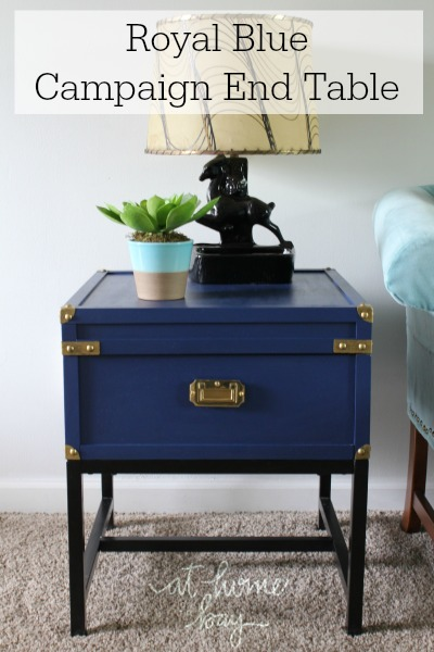 royal blue campaign side table