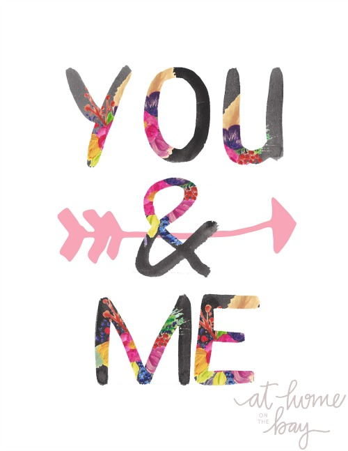 You & Me #freeprintable