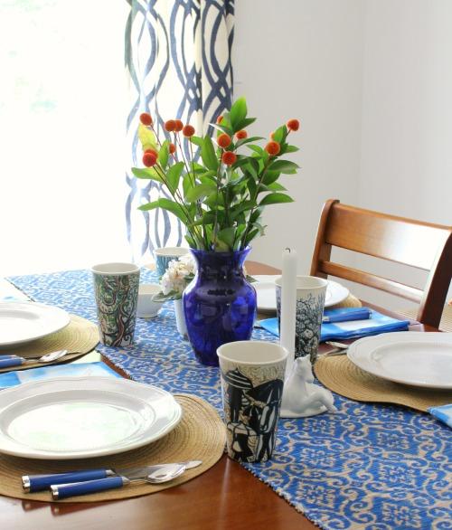 easy tie dye napkin table setting