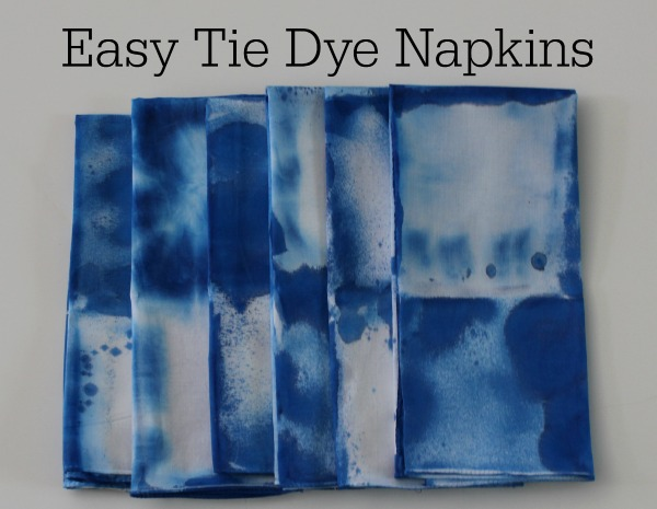 easy tie dye napkins for your table