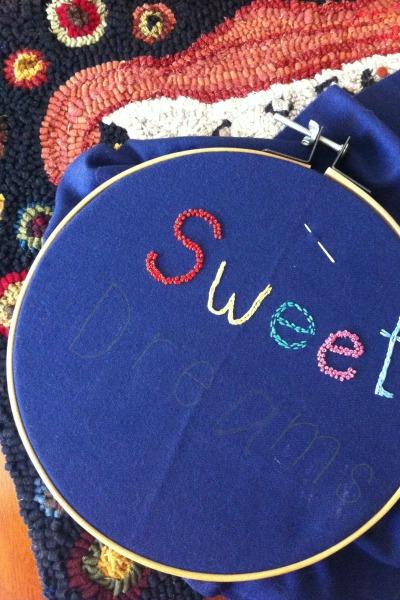 sweet dreams pillow tutorial step 3